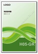 Word表紙デザインH05-GR